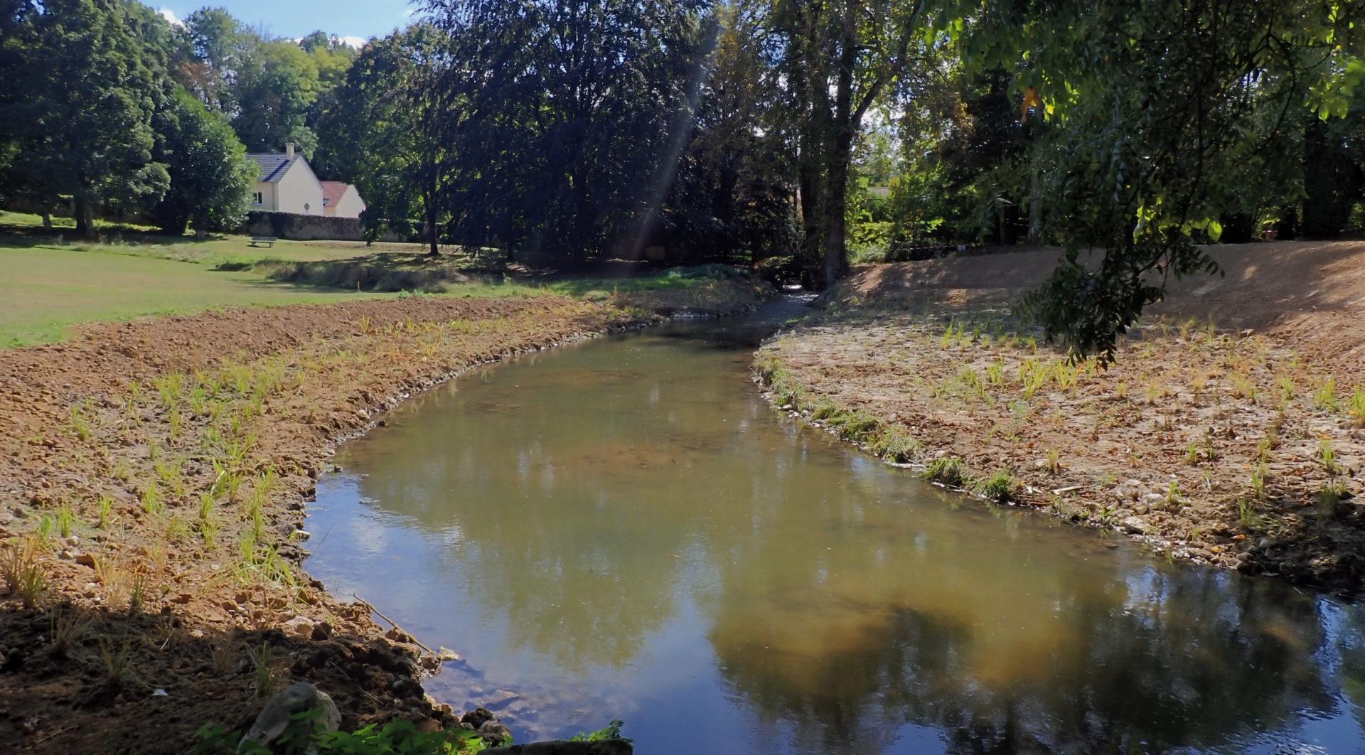 Travaux de restauration de la continuité écologique à Pringy